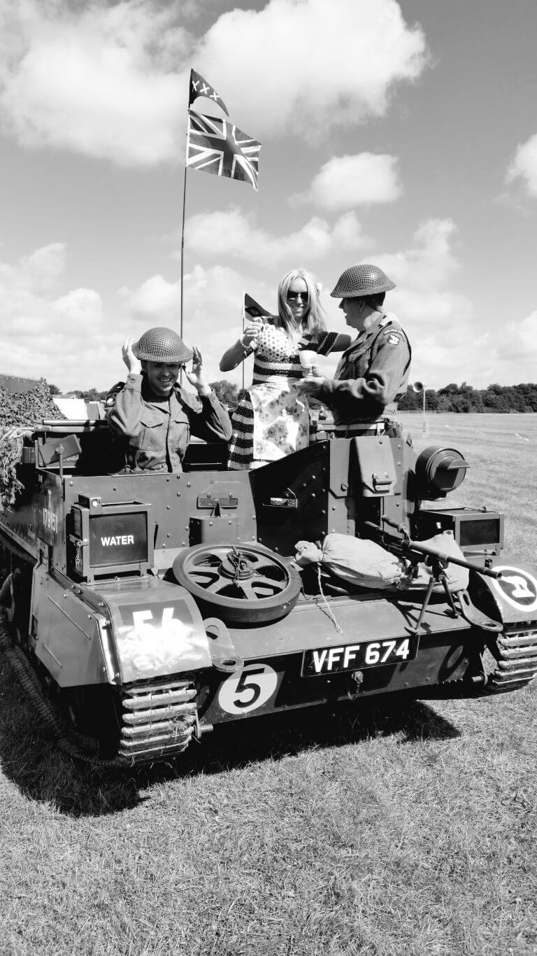 Picture of tea being served in tank