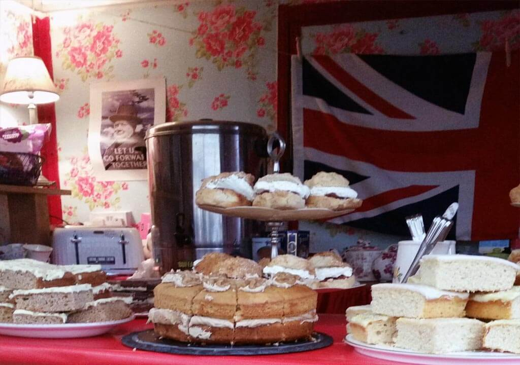 Daisy's vintage tea rooms counter cakes