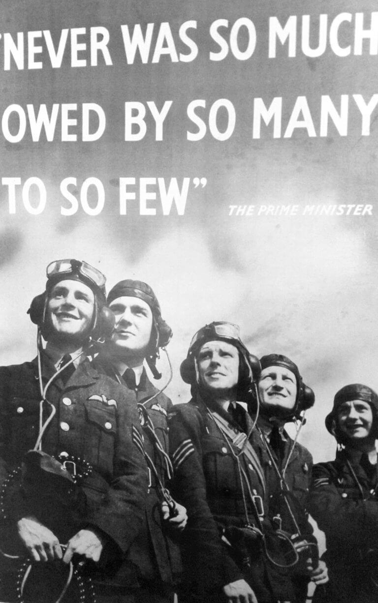 Retro photo of WW2 pilots