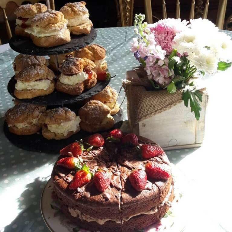 Scones and cakes at event catering in Staffordshire